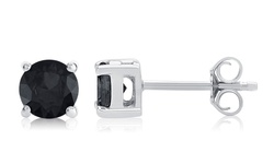 Black Diamond Stud Earring In Sterling Silver: Ke2435dwbk/1.00 CTTW