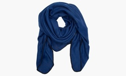 Sociology Women's Solid Blanket Scarves - Solid/Navy