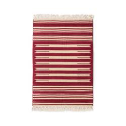 Mudhut 5' x 7' Flatweave Striped Area Rug - Red