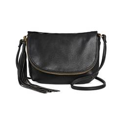 Mossimo Women's Faux Leather Crossbody Handbag - Black - Size: One