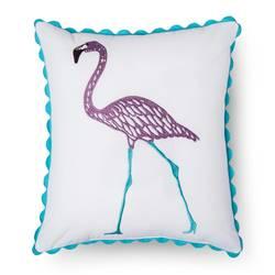 """Sabrina Soto Chloe Flamingo Throw Pillow - Multi - Size: 14"""" x 16"""""""
