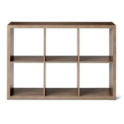 Threshold 6 Cube Storage Organizer Shelf - Gray