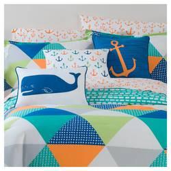"Sabrina Soto 18""x12"" Parker Whale Throw Pillow - Blue/White"
