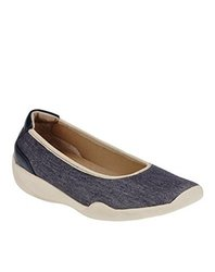 Foot Smart Women's Stretchies Joyce Slip On Shoes - Denim - Size: 10