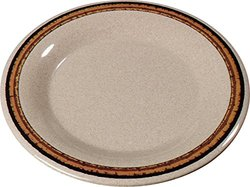 "Carlisle Durus 9"" Wide Rim Dinner Plates - Sierra Sand on Sand - Set of 24"