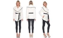 Wide Collar Plush Coat: Medium