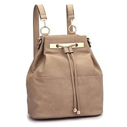 Dasein Robbin Back To School Backpack: Taupe