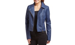 Olivia Miller Women's Moto Jacket - Blue - Size: Large
