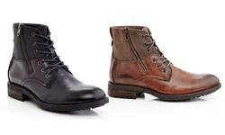 Marco Vitale Men's Side-zip Boots: Black/9.5