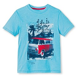 Cherokee 'Life is Better on the Beach' Boys' T-Shirt - Blue - Size: XS