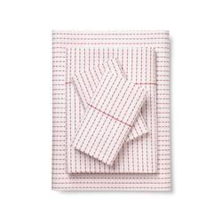 Brooklyn & Bond 4-Pc Poplar Dot Sheet Set - White/Red - Size: Full