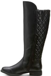 Mossimo Women's Remy Quilted Zipper Riding Boots - Black - Size: 7.5