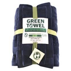 Enova Eco-Green Absorbant and Luxurious Bath Towel Set - Blue