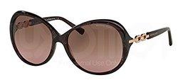 Michael Kors Women's Sunglasses: Andorra Brown Frame-pink Lens