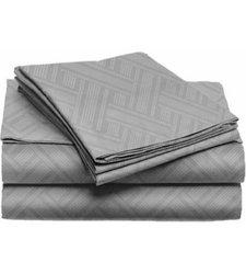 Home Dynamix Willow Megyn Bed Sheet Set - Gray - Size: King - 4Piece