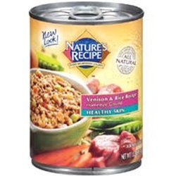 Del Monte Nature's Recipe Healthy Skin Venison and Rice Recipe Homestyle Ground Dog Food 1
