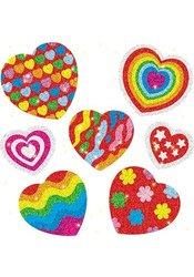 Carson-Dellosa Dazzle Stickers; Hearts