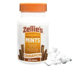 Zellies Cinnamon Xylitol Mints, 250 Count Jar
