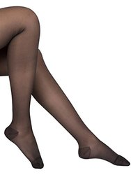 EvoNation Women's Waist High Sheer Compression Pantyhose - Black - Size: S