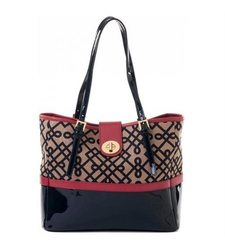 Spartina 449 Women's Classic Tote Handbag - Red/ Pink