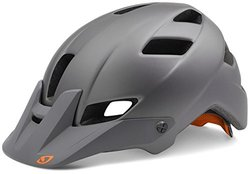 Giro Feature Helmet - Men's Matte Titanium/Flame Small