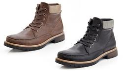 Marco Vitale Men's Lace Up Combat Chooka Casual Boots: Black/9