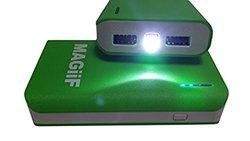 Exquisite 6000 Power Bank  Portable Dual USB External Battery - Green