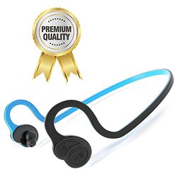 Bluetooth Headphones with Mic- Sports Earbuds - Sweat-proof Stereo Headset for Running, Workouts, Gym- Noise Reducing Wireless Headphone w/ Long Lasting Battery - Fits Samsung, iPhone, LG & More