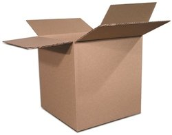 The Packaging Wholesalers 4 x 4 x 8 Inches Shipping Boxes, 25-Count (BS040408)