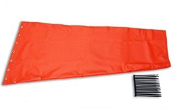 "Airport Windsock Corporation 18"" X 48"" Orange Replacement Windsock 100% USA Made"