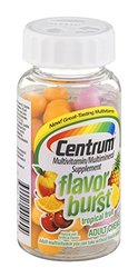 Centrum Multivitamin/Multimineral Supplement Flavor Burst Tropical Fruit , 60 CT (Pack of 3)