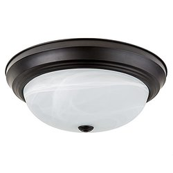 Light Blue™ LED Flush Mount Dome Ceiling fixture, Oil Rubbed Bronze, 13-Inch, 4000K Cool White, 1400 Lumens, Energy Star, Dimmabel