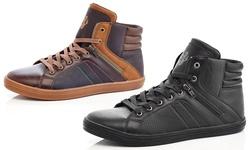 Adolfo Albert Men's High-top Sneakers: Brown/9