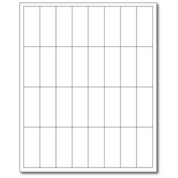 """PDC Healthcare WBW72 Laser Landscape Printable Companion Chart Label, Latex and Phthalate Free, 2.625"""" Width x 1"""" Length, White (Case of 1000)"""