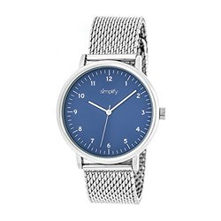 Simplify The Men's Watch: 3203/silver Band-blue Dial