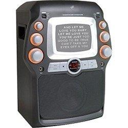 "Gpx Jm332b Cd+g Karaoke System W/ 5"" Black-and-white Monitor"