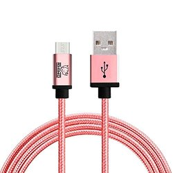 Rhino 10ft. Extra Strong Jacket Charging USB Cable - Rose Gold