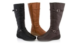 Rasolli Wide Width Comfort Riding Boot Lala-06 Brown  7