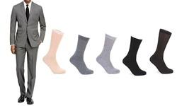 Braveman Men's 2PC Slim Fit Suits - L Grey - Size: 40sx34w