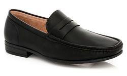 Franco Vanucci Men's Slip-on Dress Shoes - Black Shiny - Size: 13