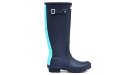 Hunter Women's Tall Rain Boot - Stripe Midnight Sky - Size: 5