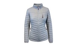 Spire by Galaxy Women's Packable Puffer Jacket - Silver - Size: Large