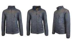 Spire by Galaxy Men's Lightweight Puffer Jacket - Black/White - Size: M