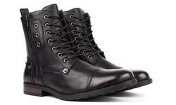 Bonafini Men's Combat Boots - Black - Size: 9