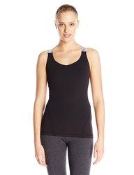 Glyder Women's Sweat It Out Tank - Black/Smoke Space Dye - Size: X-Small