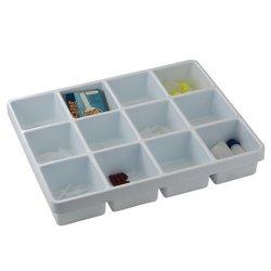 Bel-Art Scienceware White Polystyrene Gadget Organizer Tray