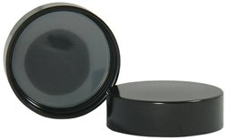Qorpak Phenolic Cap with Solid Polyethylene Liner - Black