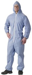 Lakeland Pyrolon Flame Resistant Coverall with Hood 25 Pk - Blue -Size:XL