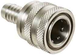 Hansen Eaton Stainless Steel Straight Through Ball Lock Hydraulic Fitting