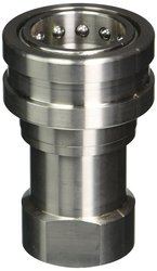 Hansen Eaton Steel Interchange Hydraulic Fitting Socket with Valve 1""